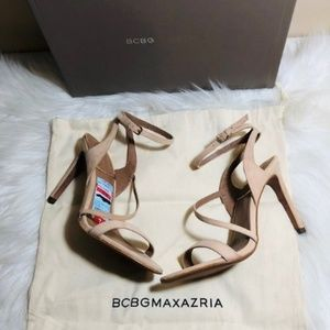 BCBGMAXAZRIA Suede High Heel Sandals 7
